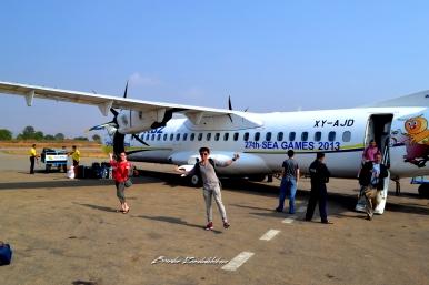 Air KBZ Flight to Bagan Myanmar