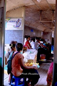 Old Railway Train Bagan Myanmar