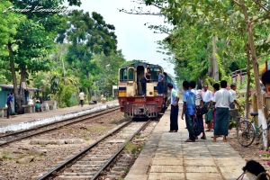 Old Railway Train Bagan Myanmar