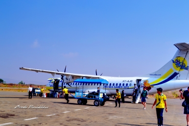 Air KBZ Flight to Bagan Myanmar